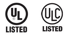 UL and ULC Listed Logos